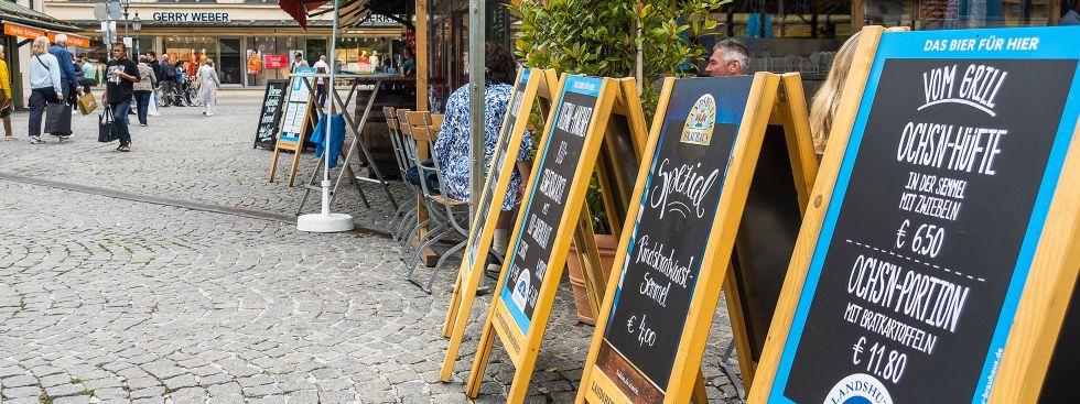 Gastronomie auf dem Viktualienmarkt, Foto: Anette Göttlicher