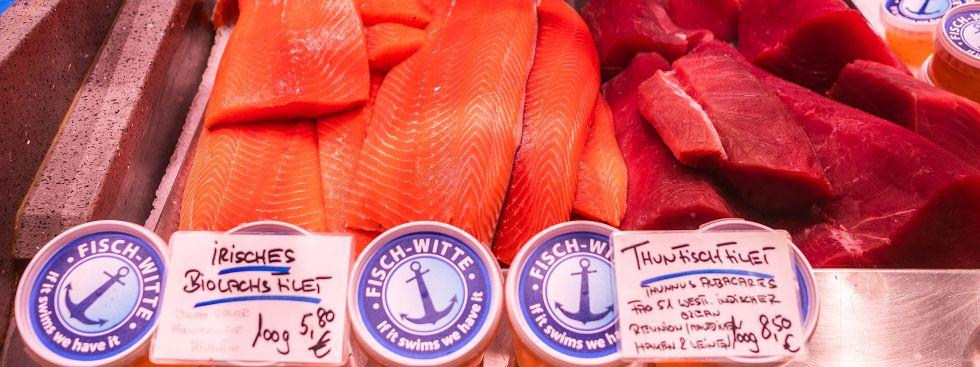 Fisch auf dem Viktualienmarkt, Foto: Anette Göttlicher
