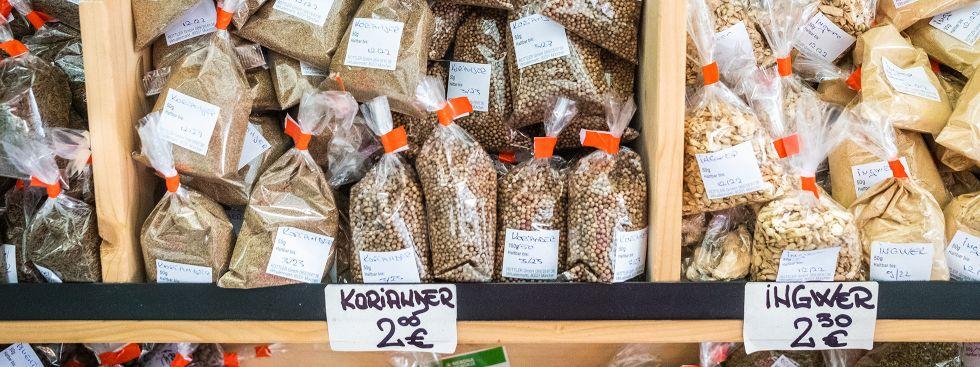 Gewürze auf dem Viktualienmarkt, Foto: Anette Göttlicher