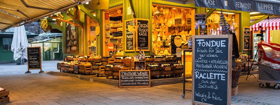Käse (und Wein) vom Viktualienmarkt, Foto: Anette Göttlicher