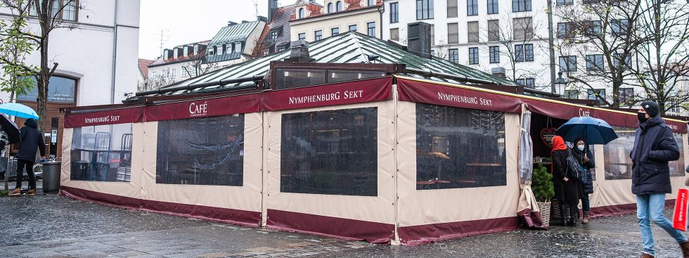 Das Café Nymphenburg auf dem Viktualienmarkt, Foto: Anette Göttlicher