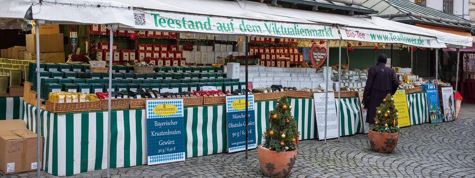 """Der Teestand """"Teaflower"""" auf dem Viktualienmarkt, Foto: Anette Göttlicher"""