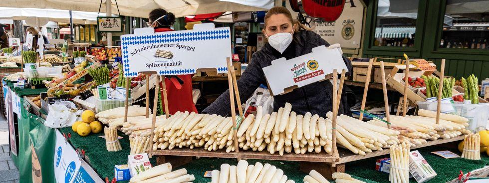 Spargel vom Viktualienmarkt, Foto: Anette Göttlicher