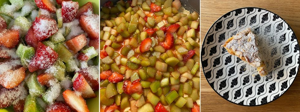 Saftiger und schneller Rhabarberkuchen, Foto: Anette Göttlicher