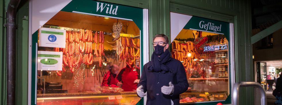 Auf dem Viktualienmarkt, Foto: Anette Göttlicher