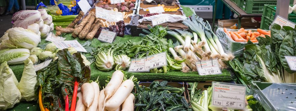Wintergemüse auf dem Viktualienmarkt, Foto: Anette Göttlicher