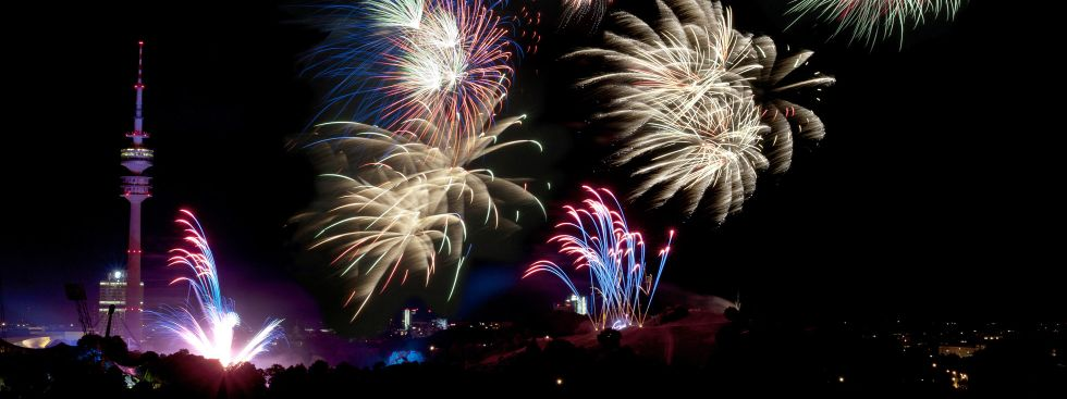 Neujahrsfeuerwerk in München