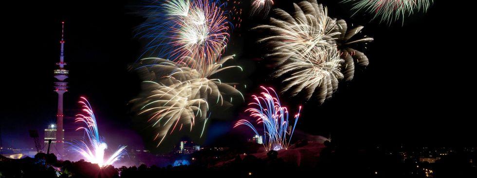 Feuerwerk im Olympiapark