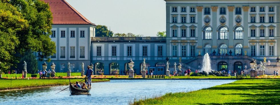 Gondel auf dem Nymphenburger Schlosskanal