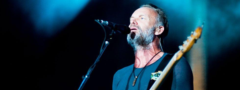 Sting live auf der Bühne
