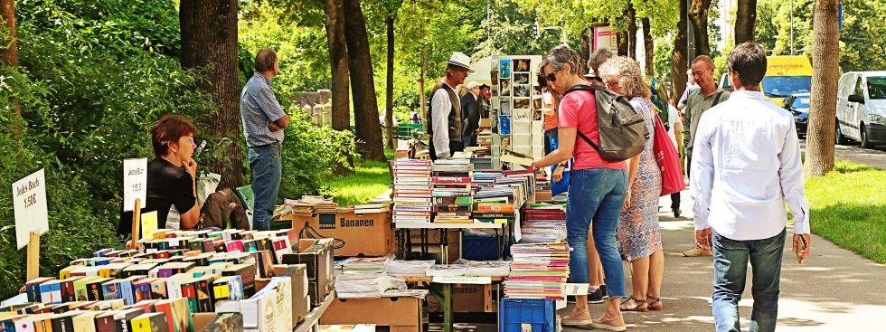 Bücherflohmarkt Lisar an der Isar