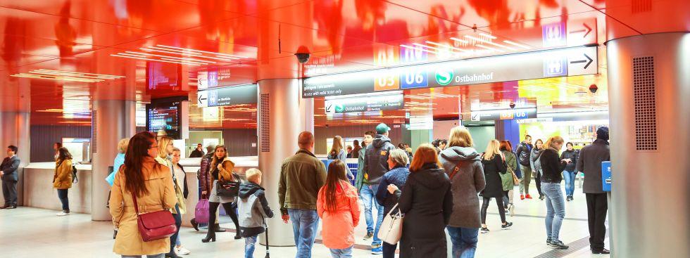 Zwischengeschoss im U-Bahnhof Marienplatz