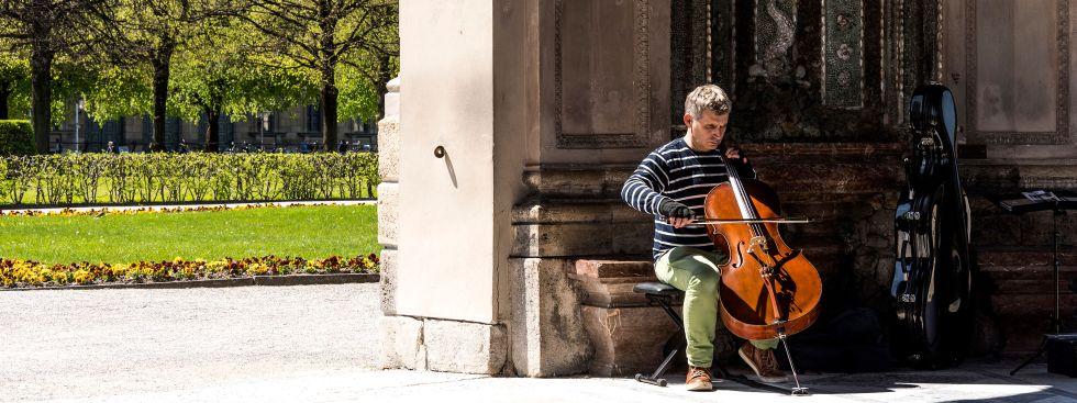 Musiker im Hofgarten