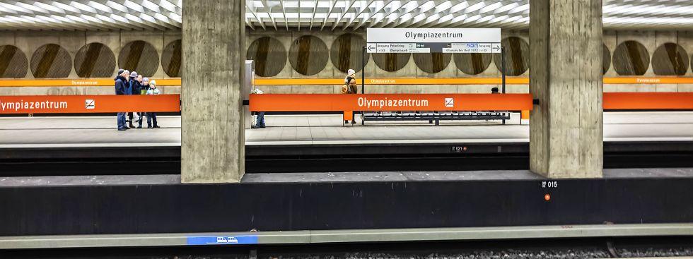 Der U-Bahnhof Olympiazentrum