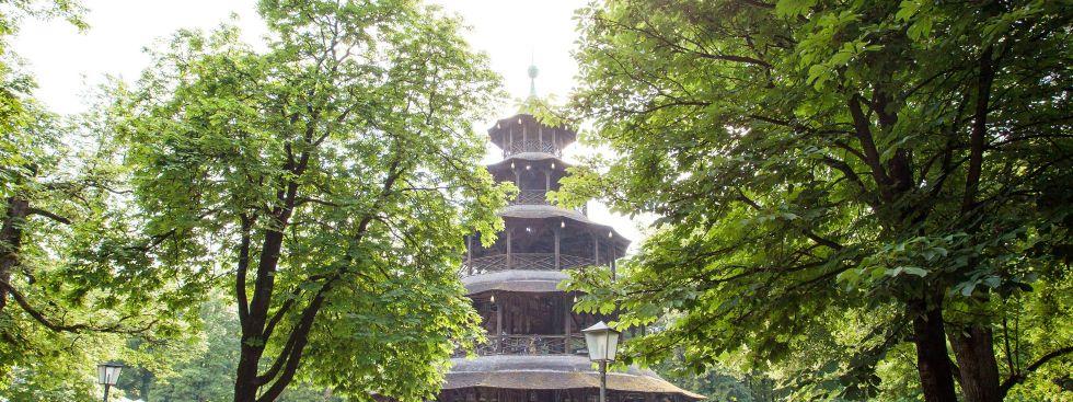 Der Chinesische Turm im Englischen Garten, Foto: muenchen.de / Mónica Garduño