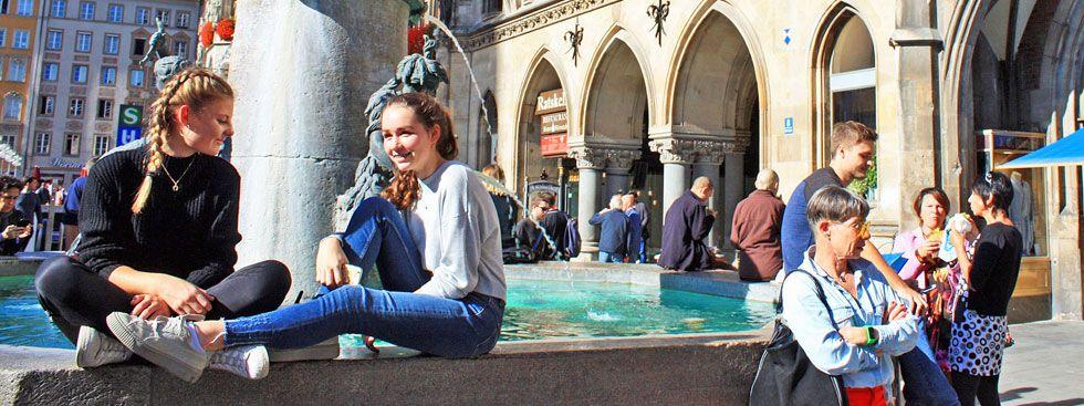 Fischbrunnen am Marienplatz, Foto: muenchen.de/ Leonie Liebich