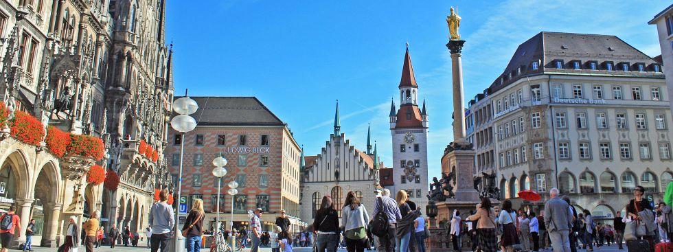 Impressionen vom Münchner Marienplatz, Foto: muenchen.de/Leonie Liebich