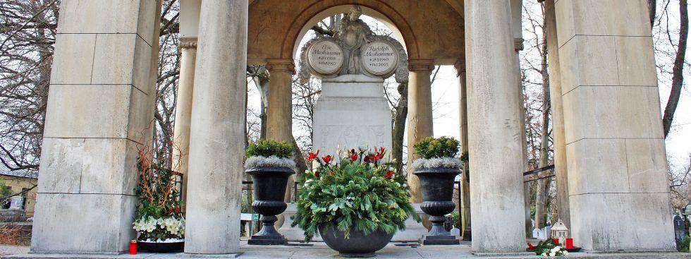 Der Ostfriedhof in Giesing: Das Moshammer-Mausoleum, Foto: muenchen.de/Leonie Liebich