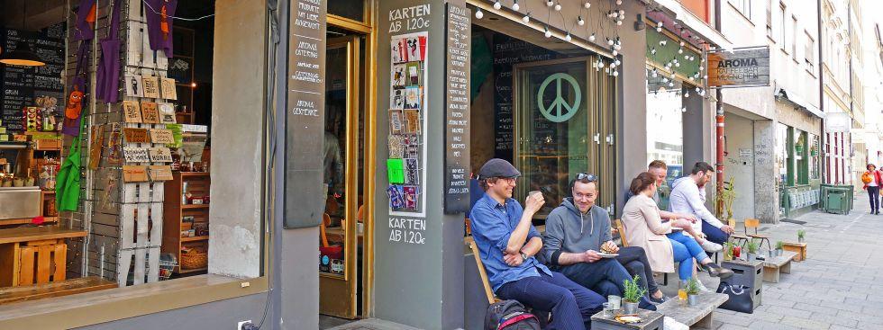 Aroma Kaffeebar in München, Foto: muenchen.de / Leonie Liebich