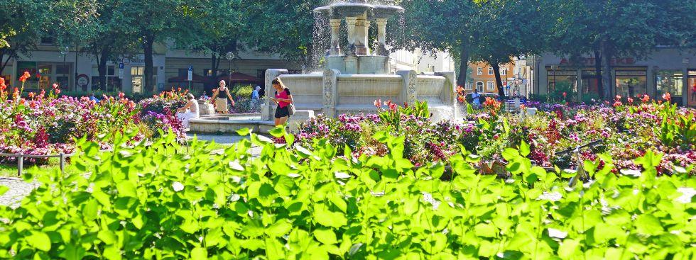 Sommer am Weißenburgerplatz, Foto: muenchen.de/Leonie Liebich