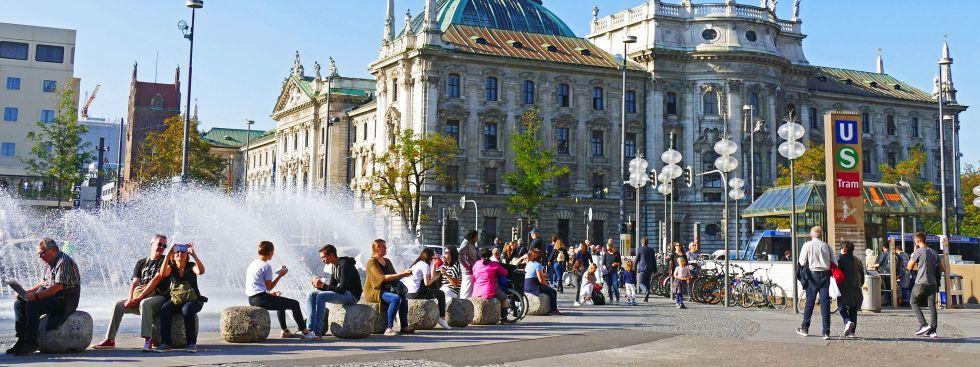 Karlsplatz Stachus, Foto: muenchen.de/Leonie Liebich