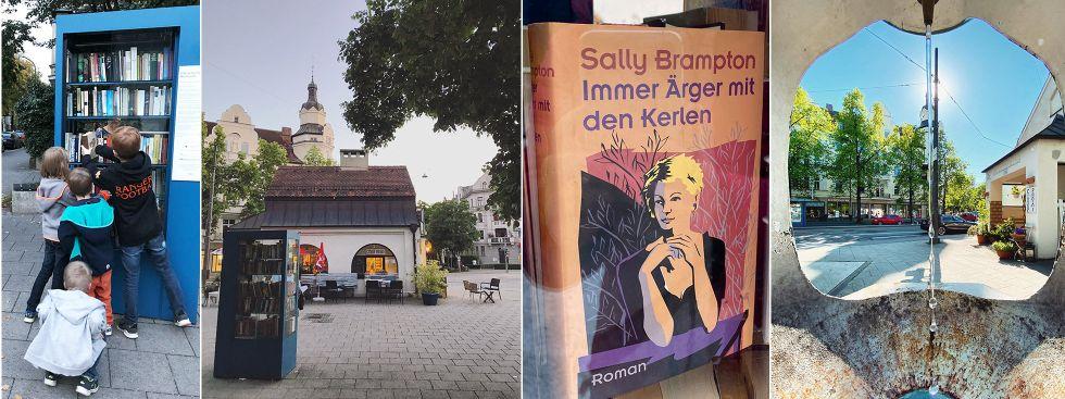 Öffentlicher Bücherschrank in Neuhausen, Nymphenburger Ecke Waisenhausstraße, Foto: Anette Göttlicher