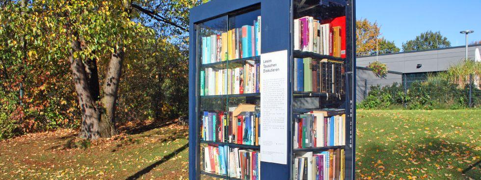 Bücherschrank in Bogenhausen, Foto: muenchen.de/ Leonie Liebich