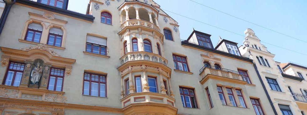 Fassade in der Liebherrstraße im Lehel, Foto: muenchen.de/Mark Read