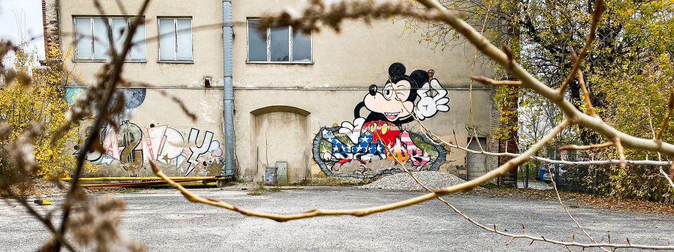 Graffiti in Neuhausen, München., Foto: Anette Göttlicher