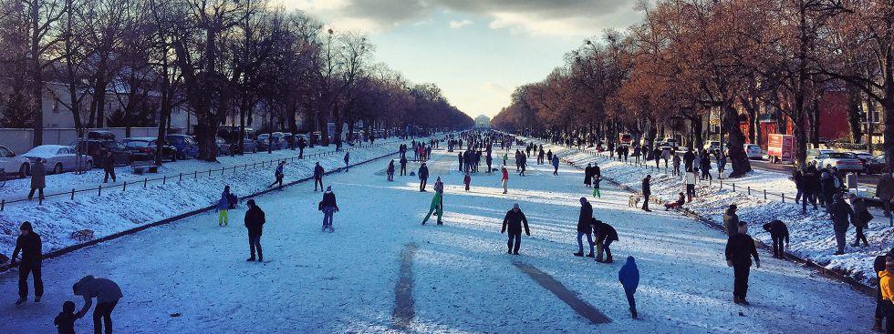 Der Nymphenburger Kanal im Winter., Foto: Anette Göttlicher