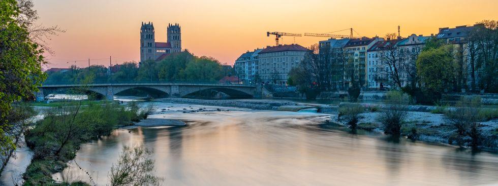 Reichenbachbrücke am Abend, Foto: muenchen.de/ Michael Hofmann