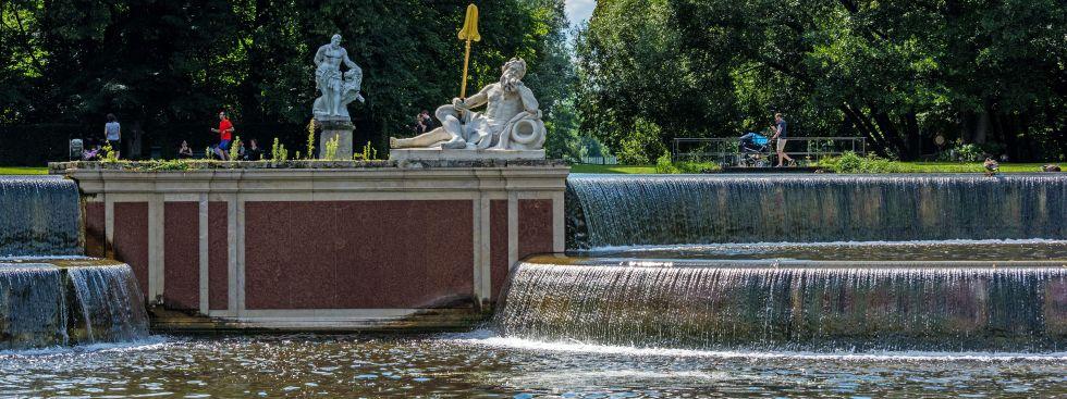 Kaskaden im Schlosspark Nymphenburg, Foto: muenchen.de/ Michael Hofmann