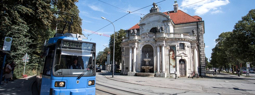 Tram 16: Bayerisches Nationalmuseum, Foto: muenchen.de/ Mónica Garduño