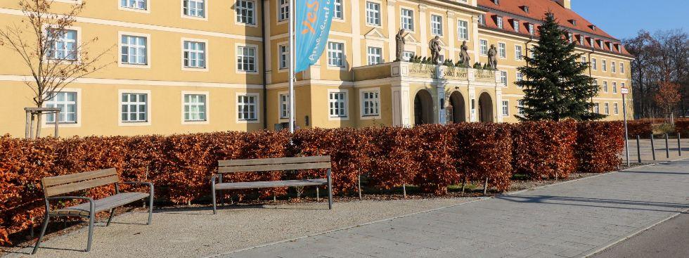 Der Luise-Kiesselbach-Platz in München., Foto: Marie-Lyce Plaschka