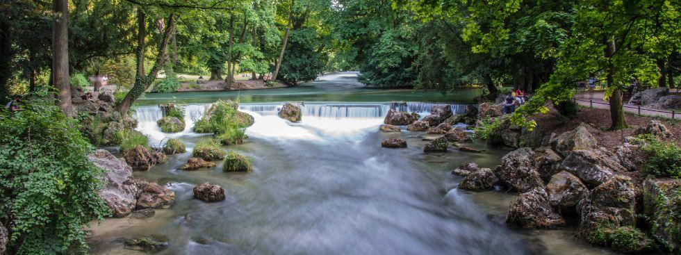 Englischer Garten im Sommer, Foto: Michael Hofmann