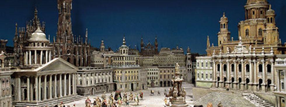 Krippe Phantasiebild der Stadt Jerusalem aus dem Bayerischen Nationalmuseum, Foto: Bayerisches Nationalmuseum München