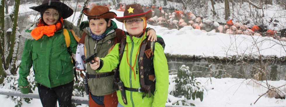 Verkleidete Kinder beim Fasching im Tierpark Hellabrunn, Foto: Tierpark Hellabrunn