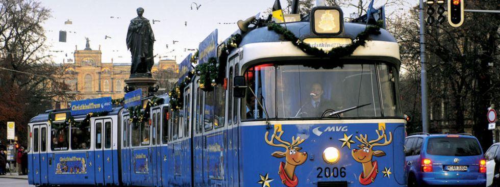 Christkindltram der MVG, Foto: Stadtwerke München