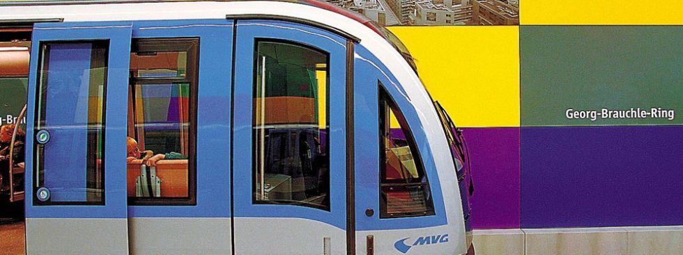 U-Bahn im Bahnhof Georg-Brauchle-Ring., Foto: MVG/Christian Bullinger