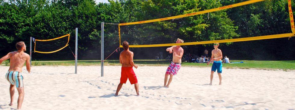 Feringasee Volleyball, Foto: muenchen.de / Michael Neißendorfer