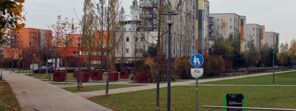 Wohngegend in München Am Hart, Foto: Christian Brunner