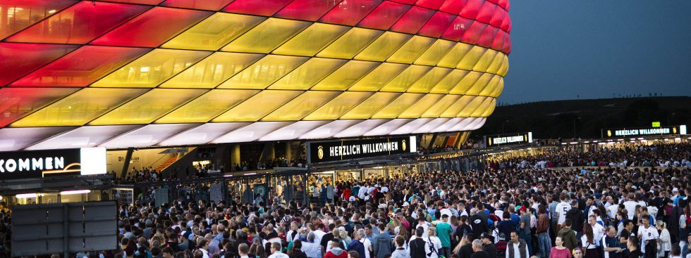 Die Fußball Arena München – das einzige deutsche Stadion bei der UEFA EURO 2020., Foto: imago images