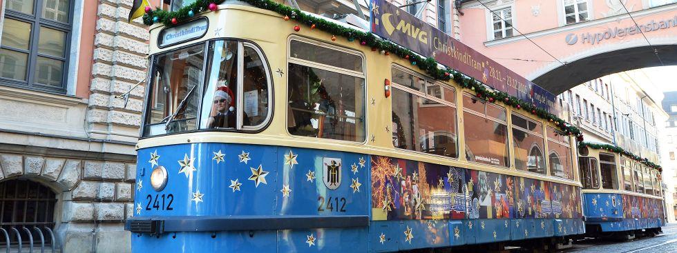 Die Christkindltram durch München, Foto: MVG / Kerstin Groh