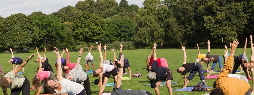 Yoga Westpark, Foto: Katy Spichal