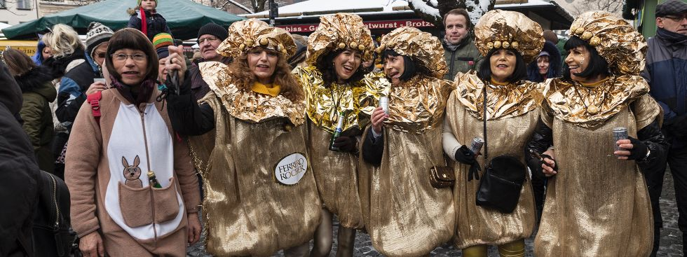 Unsinniger Donnerstag auf dem Viktualienmarkt, Foto: muenchen.de/Katy Spichal