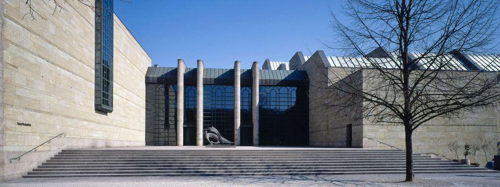 Neue Pinakothek von außen im Winter, Foto: Neue Pinakothek