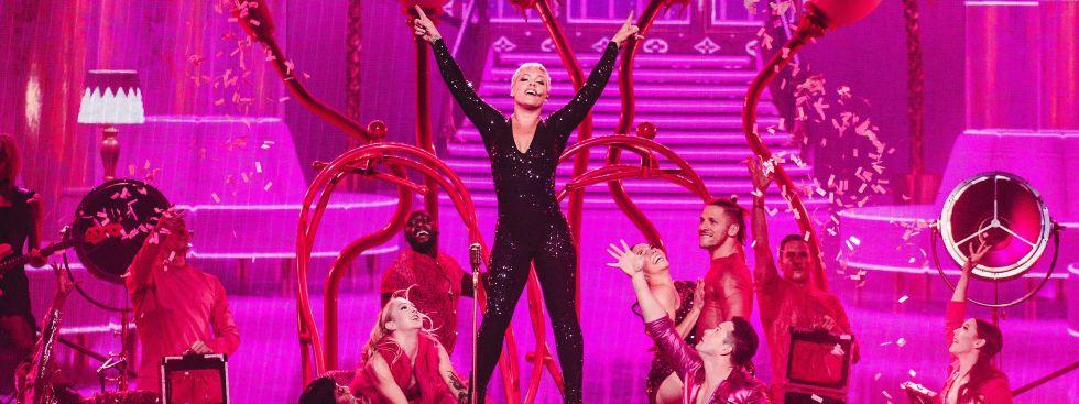 Sängerin Pink auf der Bühne, Foto: Jess Gleeson