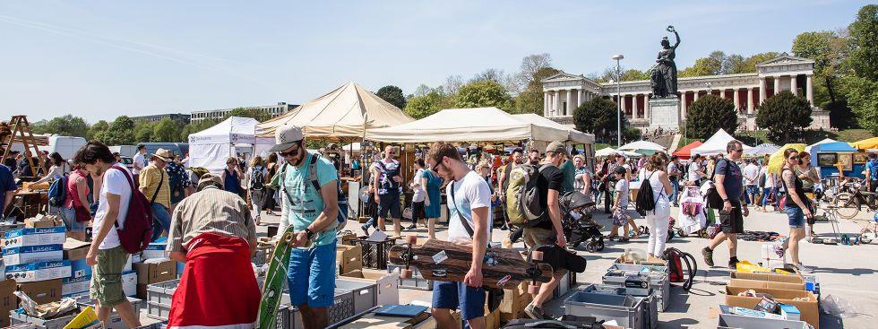 Riesenflohmarkt 2018, Foto: muenchen.de / Mónica Garduño
