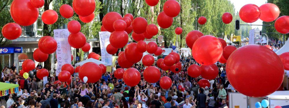 Ballons auf dem Corso Leopold, Foto: Wolfgang Roucka