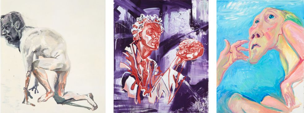 Martin Kippenberger - Maria Lassnig: Body Check, Foto: Estate of Martin Kippenberger, Galerie Gisela Capitain, Cologne & Maria Lassnig Stiftung / Foundation (rechtes Bild)